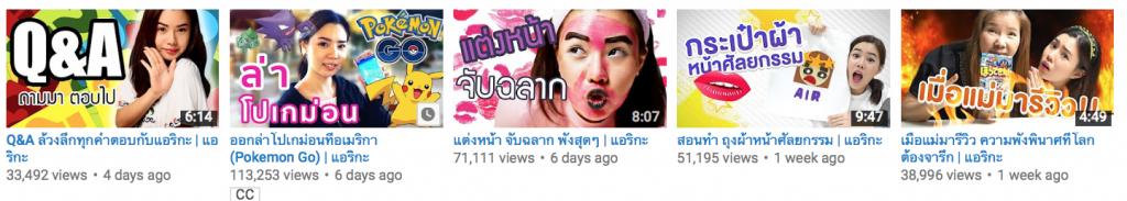 ตั้งชื่อ Airrlikaa YouTube Channel